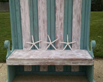 Hallway Bench,Entryway Bench,Turquoise Furniture,Turquoise Bench,Painted Furniture,Beach Furniture,Coastal Living Furniture,Bench,Banquette