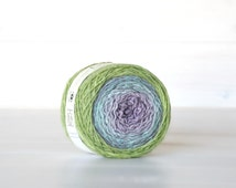 Hand Dyed Gradient Yarn - 100% Wool - Color: Pixie Ombre - 1Ply Sport Yarn - Colorful Soft Yarns by Freia - Soft Wool Sport Yarn - Wool yarn
