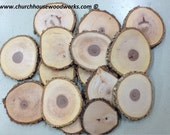 "25 qty 5"" large wood slices, rustic coasters, tree coasters, decoration,  rustic weddings, rustic wedding coasters"""