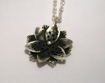 Starflower Necklace - Handmade - Sterling Silver