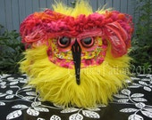 Daisy a Bright Yellow and Pink Plush Owl