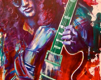 Slash Guns n Roses Poster 12 x 18 Musician Guitar Celebrity Print Wall Art Colorful Abstract Pop Art