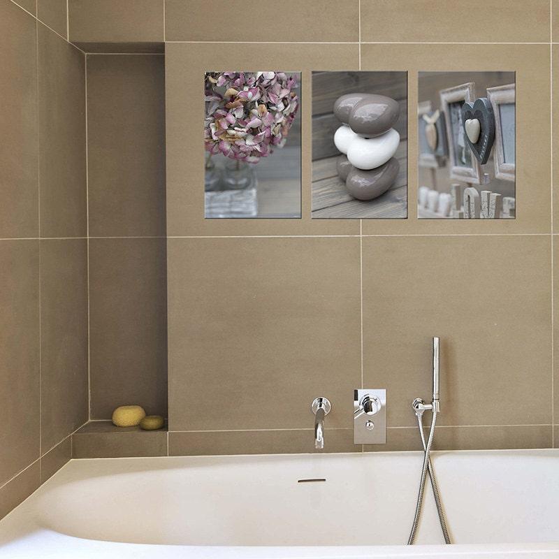 bathroom decor set of 3 prints canvas art bathroom by photoforwall