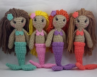 Crocheted mermaid doll MADE TO ORDER