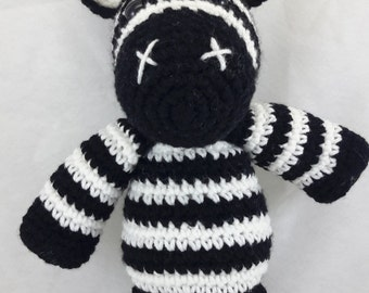 Crocheted Zebra made to order