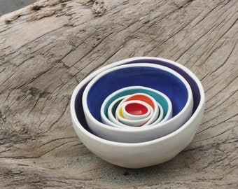 Nesting Bowls - Rainbow, Home, Garden, Decor, Gift