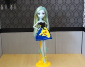 """Lagoona's """"Pika Print"""" Patterned Dress, Made to Fit Ever After High and Monster High Dolls"""