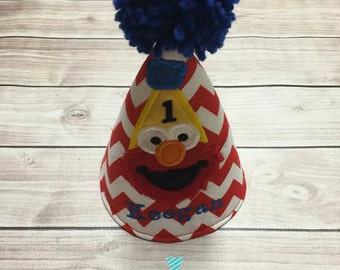 Elmo First Birthday Personalized Party Hat