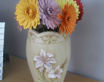 Hand Crafted Single Paper Gerbera Flowers available in any colour you choose