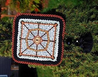 SALE! Halloween Cross Stitch Instant Download PDF Pattern Spider's Garden Web Counted Embroidery Geometric Mandala X Stitch DIY Home Decor