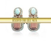 RESERVED for  Lille Nåta Grande Macciatto soutache earrings in blue, ivory, and taupe. Free international shipping