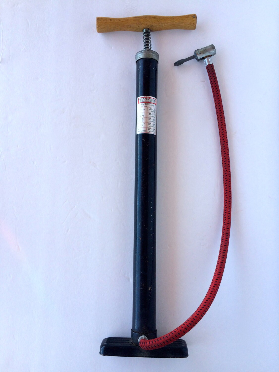 Vintage Bicycle Tire Pump Bike Pals Bike Pump By Dorcy