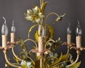 Beautiful tole flower chandelier