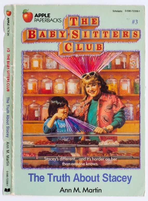 Embroidered Book Cover - The Baby-Sitters Club: The Truth About Stacey