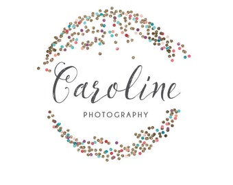 Premade Glitter Circle Logo - Premade Photography Logo and Watermark Design - Photography or Boutique Logo  - Business Branding