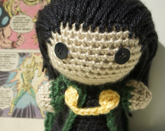 Crocheted Loki Doll