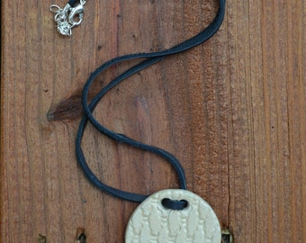 White Ceramic Pendant Necklace