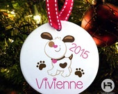 Personalized Dog Christmas Ornament - Dog 1st Christmas - Personalized with any name and year