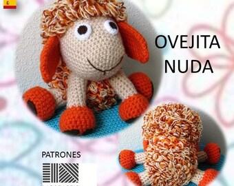 """Patrón de crochet en pdf """"OVEJITA NUDA"""""""