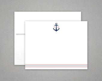 Personalized Stationery | Initial Stationary | Father's Day Gift | ANCHOR MONOGRAM | Gift for Him | Monogram Stationary