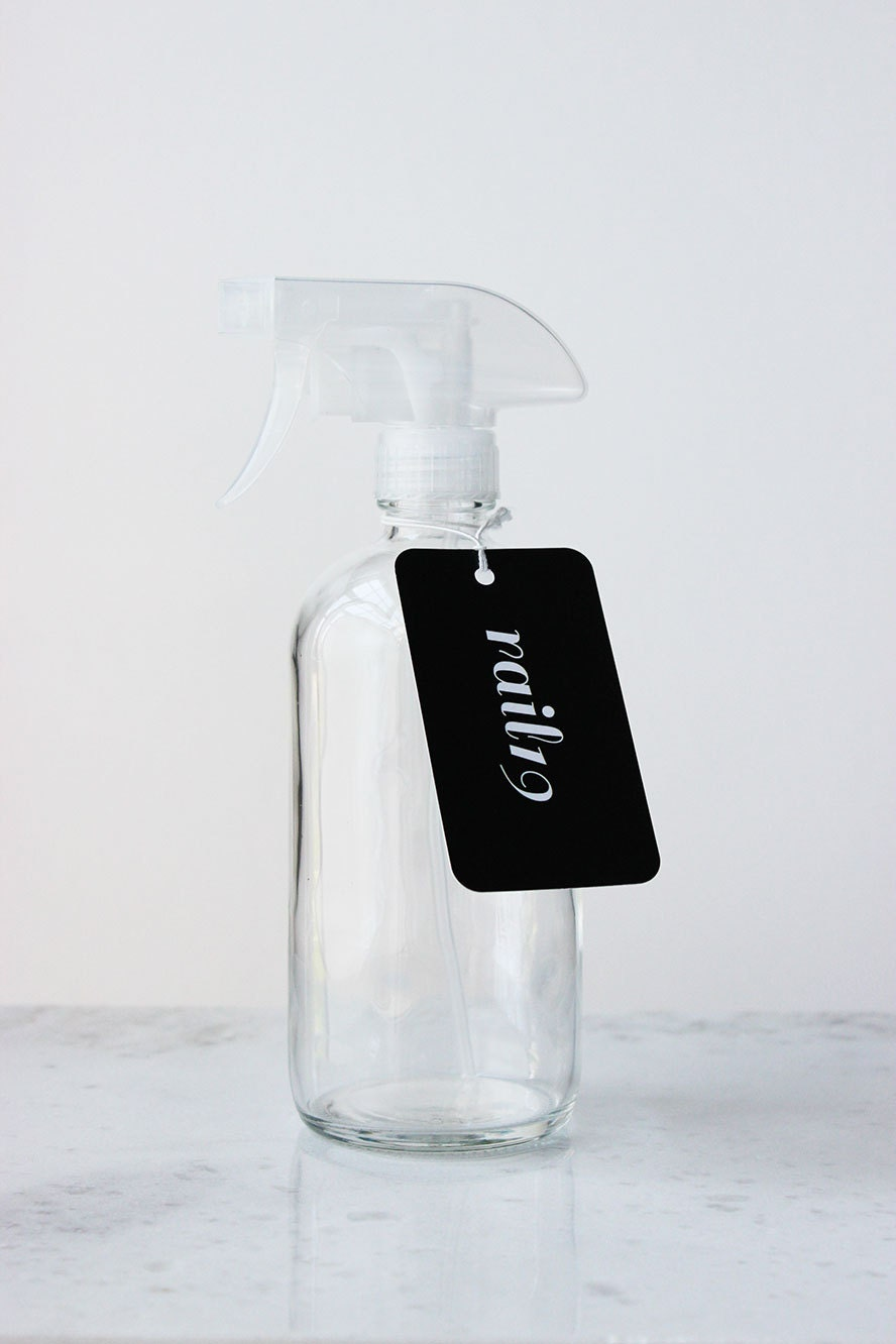 Clear Glass Spray Bottle With Clear Spray Nozzle