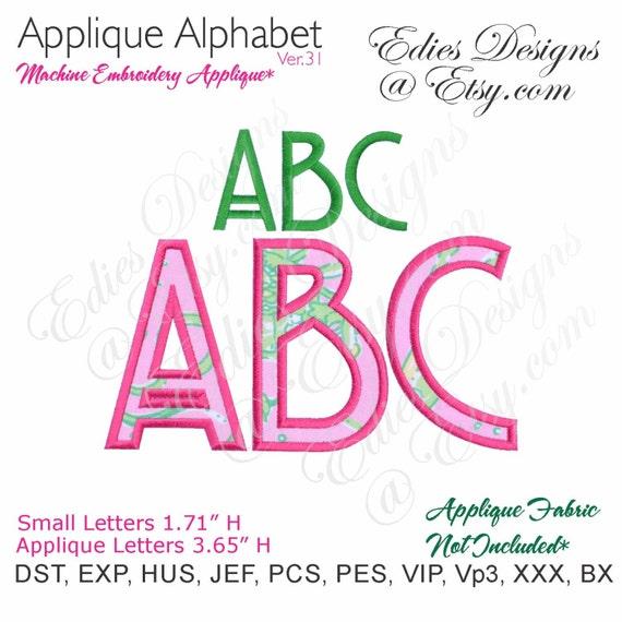 alphabet applique designs machine embroidery