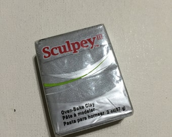 Sculpey 3 Polymer Clay - 1130 Silver - 2oz Single Block