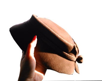 Cute little vintage brown hat 1960 60s 50s