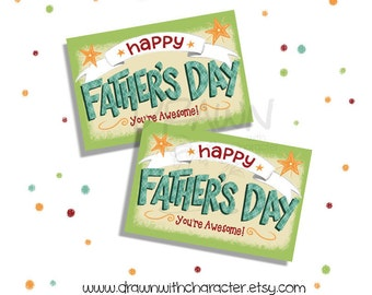 Father's Day Printable Gift Tag, Customizable