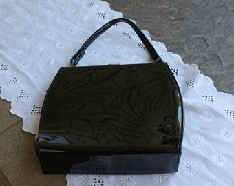 Black Patten Leather Purse
