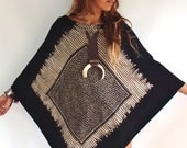 Bohemian Cuzco Tribal Poncho. Light Weight