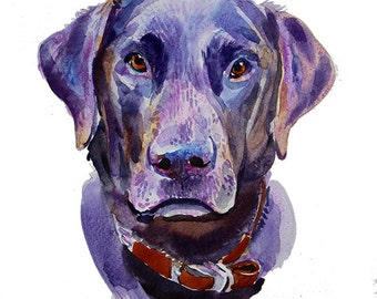 Custom Pet Portrait -  Custom Portraits - Original Art - 11x14inches  - Watercolor Painting - Gift Art - Dogs
