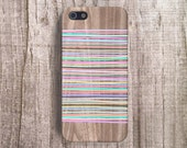 iPhone 6 Case Geomteric iPhone 4 Case, Geometric Cases Stripey Pastel Stripe iPhone 5C Case, Pastel iPhone Case Samsung S5 Case Wood Print
