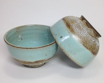 MADE TO ORDER, Celadon Rice Bowls, Chawan, Green Tea Bowls, Ceramic Serving Bowls, Crawl Glaze Pottery, Stoneware Bowl, Tea Cup, Matcha Bowl