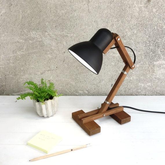 The Mehanik, adjustable wooden desk working wood lime metal shade round pixar geometric lamp minimal black simple design minimalist Paladim