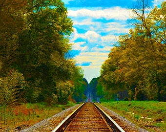 Railroad track to infininity