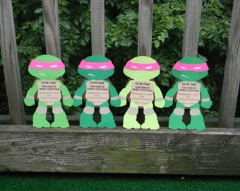 Pink Masked Teenage Mutant Ninja Turtles Invitations