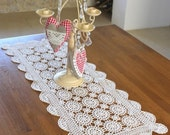French Vintage Crocheted Table Runner - RESERVED FOR RENEE