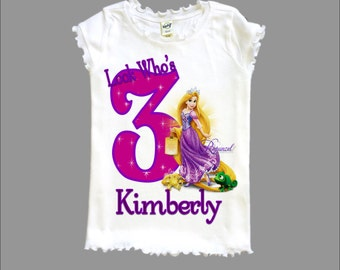 Tangled Birthday Shirt - Rapunzel Shirt