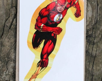 DC Comics Justice League Of America THE FLASH Sticker, Comic Book, Superheroes, Collectible, Scrapbooking, Stickers, Free Shipping!