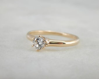 Timeless And Elegant Diamond Engagement Ring 7H0AJW-N