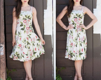 70's Floral Baby Doll Dress