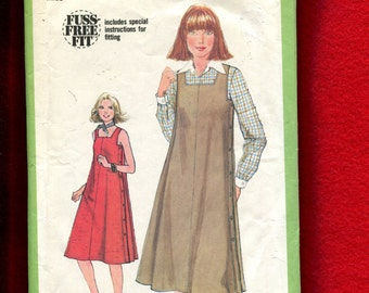 1970's Simplicity 8464 Flared Side Button Sun Dress or Jumper Size 20 UNCUT