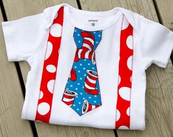 Dr. Seuss Cat in the Hat Baby Onesie