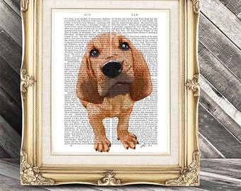 Bloodhound Print, Puppy, dog poster dog wall decor dog illustration dog picture dog gift for dog lover dog Print dog art, Bloodhound art