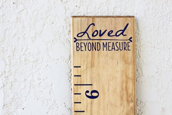 Growth Chart Ruler AddOnLoved Beyond Measure - Ruler growth chart vinyl decal