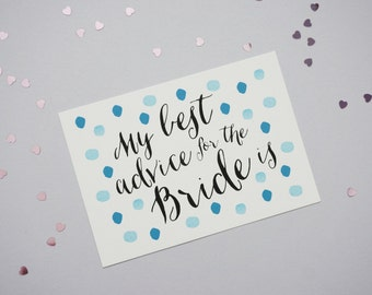 Marriage Advise Card // Bride To Be