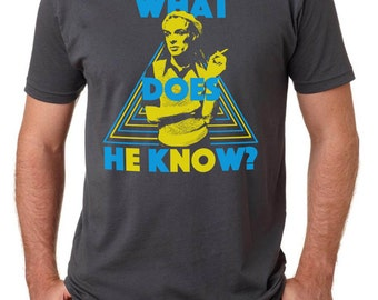 What Does He Know - Brian Eno shirt - MGMT T shirt