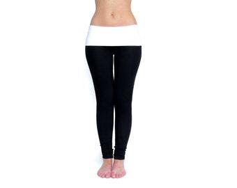 Black Leggings, Black Yoga Pants, Fold Over Leggings, Yoga Clothes, Yoga Leggings, Yoga Pants Women, Yoga Tights, Workout Wear, Gym Pants