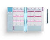Printable Weekly Planner Pages, Weekly Docket, Editable PDF JPGs, Bright Kawaii Planner Download, To Do List, Instant Download, 6 x 9 in